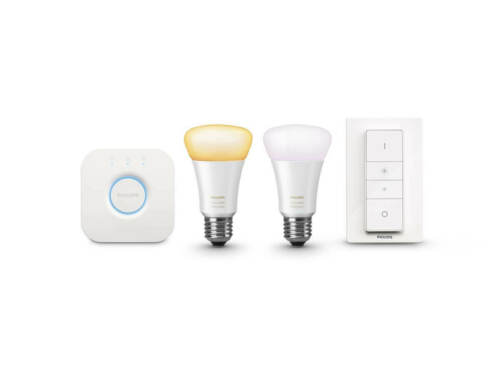 Philips Hue White Ambiance E27 Bluetooth ZigBee Leuchtmittel Bridge Dimmschalter