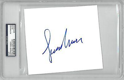 Entertainment Memorabilia Provided Leonard Nimoy Signed Star Trek Autographed Slabbed Cut Signature Psa/dna