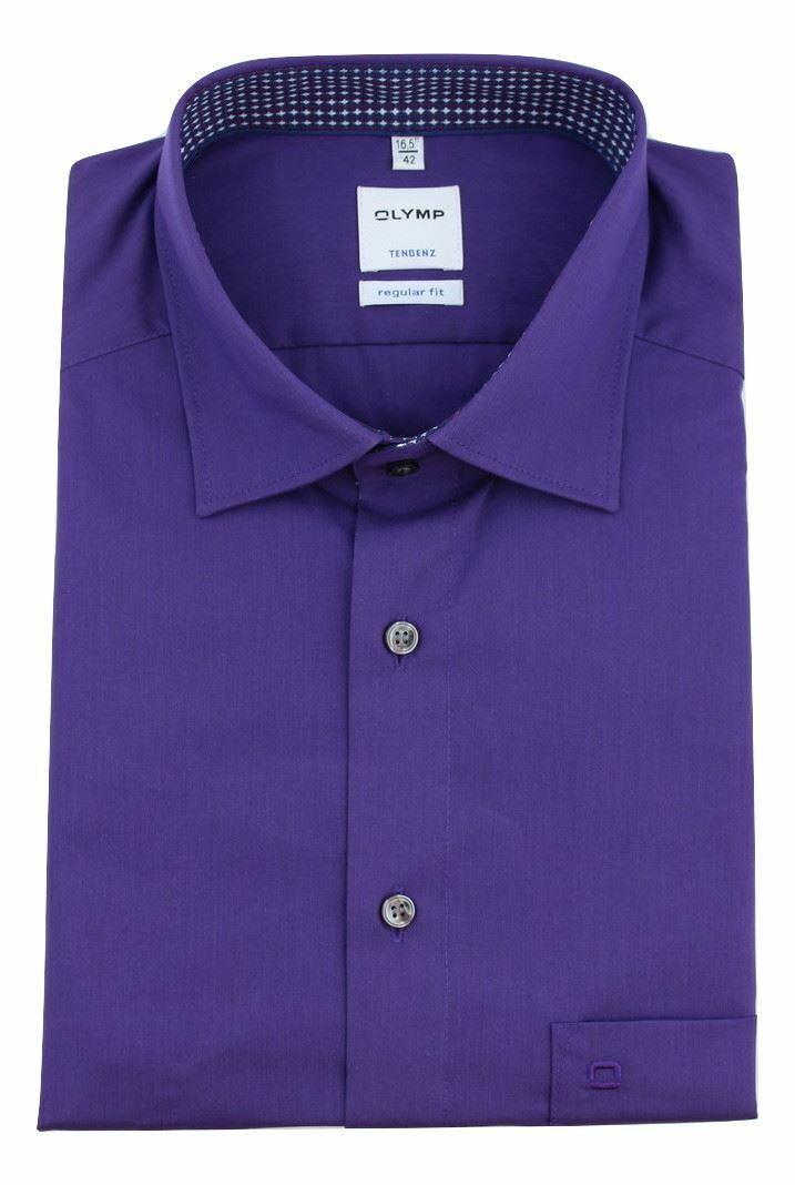 Purple (Pattern Contrast) Spread Collar
