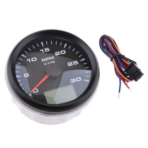 85mm 3.35 inches 7 Colors Backlight Tachometer 0-3000 RPM With Odometer
