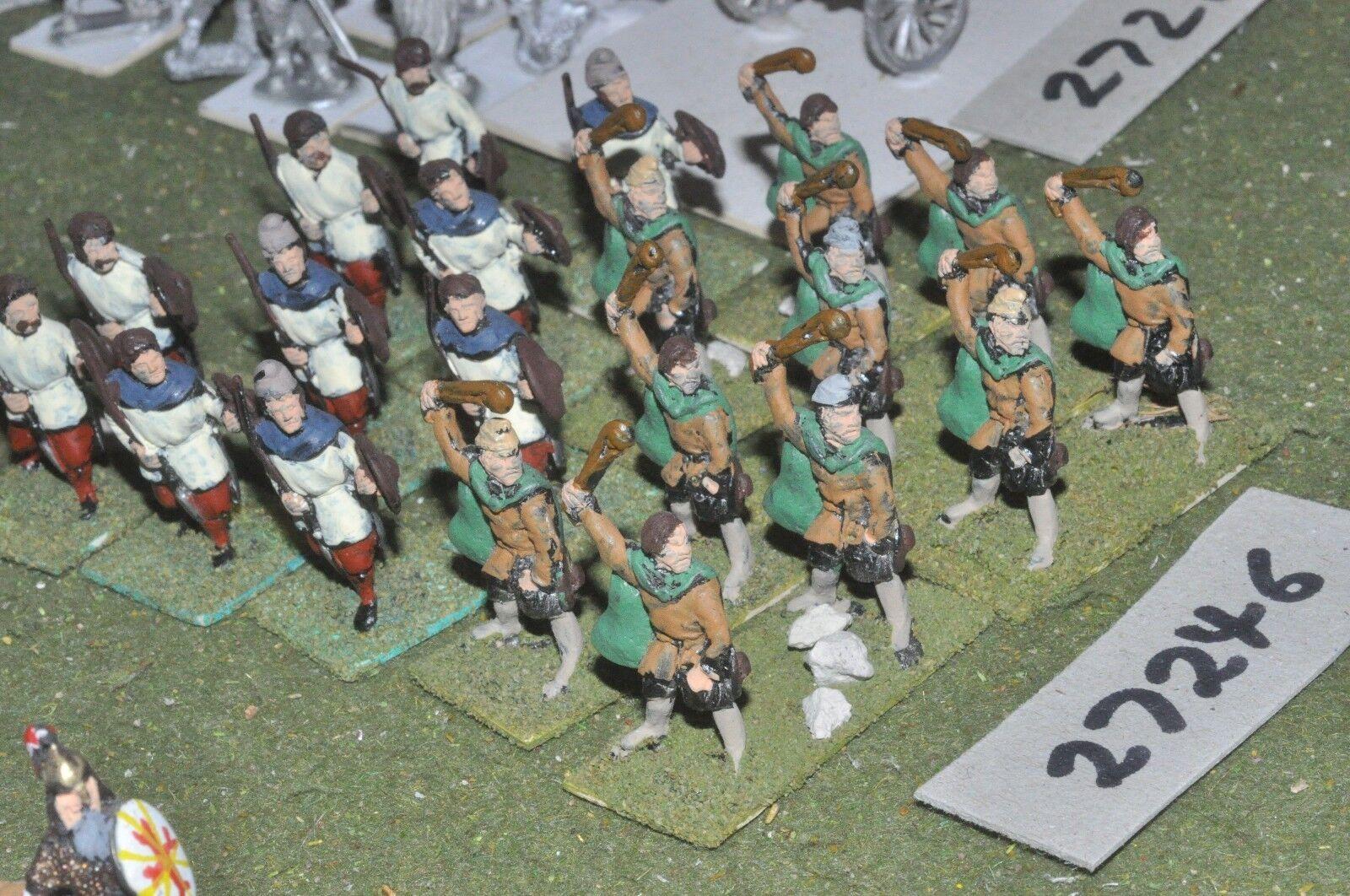 25mm roman era   goth - skirmishers 20 figures - inf (27246)