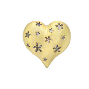 925-Sterling-Silver-Ethnic-Star-Design-Yellow-Gold-Plated-Heart-Ring-STR-304