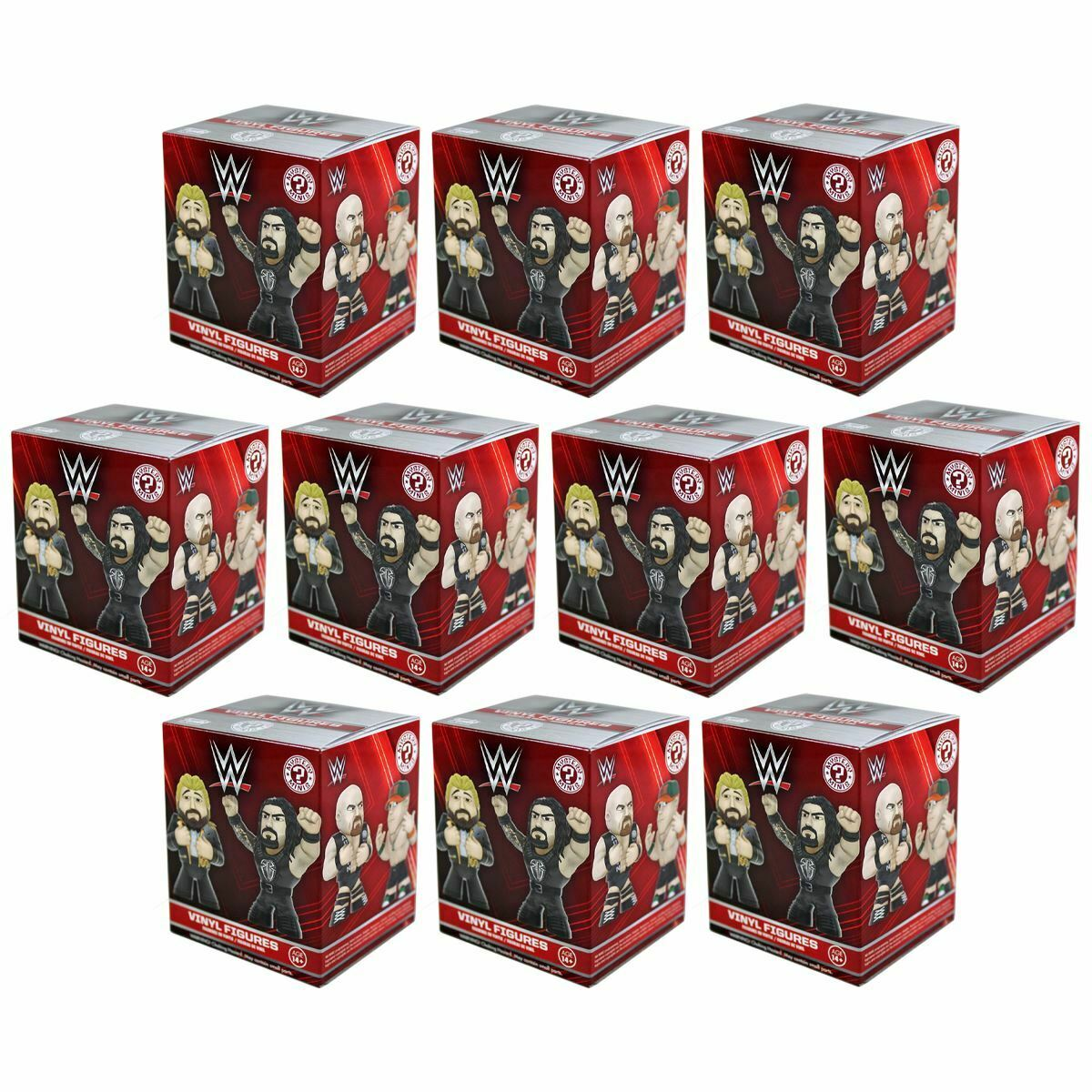 New 10 WWE Mystery Minis Blind låda Vinyl Figures Funko Wrestling Officiell