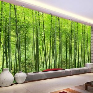 Details About Custom Photo Wallpaper Bamboo Forest Art Wall Painting Living Room Tv Background