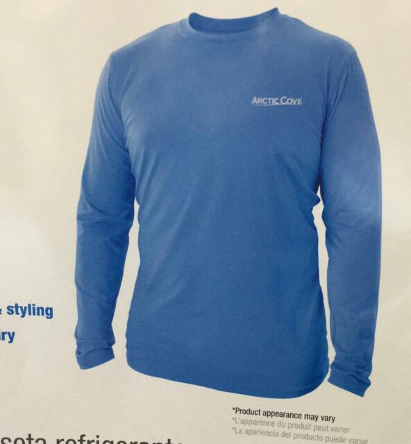NEW Arctic Cove Long Sleeve Cooling Shirt XL Fishing Protection BLUE MAC570XL