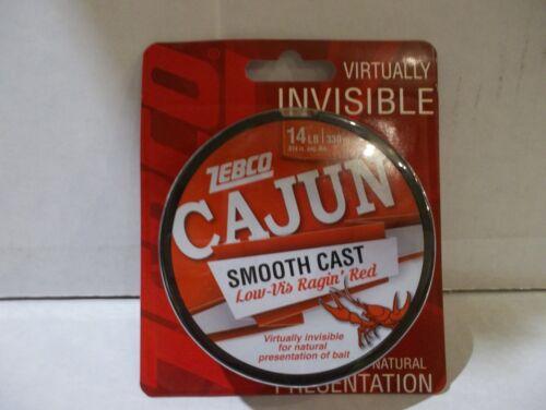 environ 6.35 kg Zebco Cajun lisse en ligne de pêche 14 lb Test 330 yd environ 301.75 m Ragin couleur rouge NEUF dans emballage