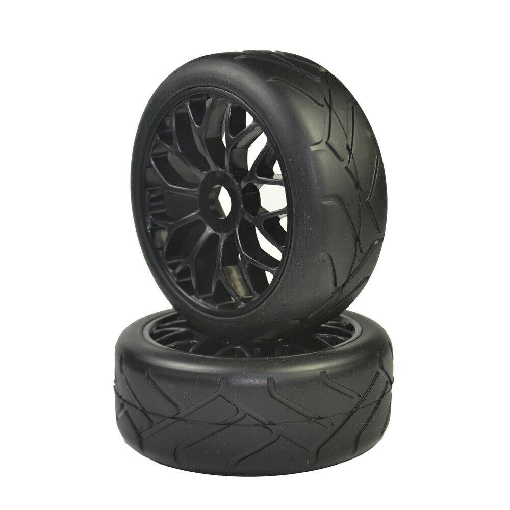 1//8 Buggy on Road Tires 17mm for Kyosho//Hobao//HSP//HPI 4pcs Tires