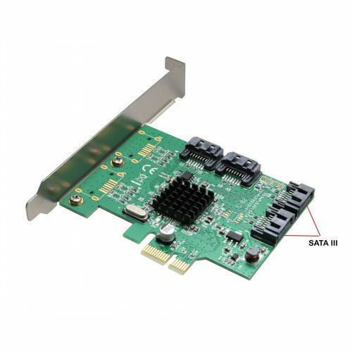 SYBA SI-PEX40064 4Port SATA III 5Gb//s PCI Express with Full//Low Profile Brackets