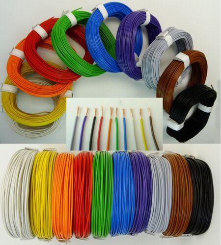 Liy 0,14mm² cable galon kupferlitze cable 10 colores longitud 1m-100m elegibles