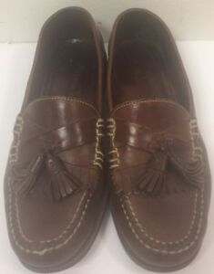 Cole-Haan-Tassel-Leather-Loafers-Slip-On-Mens-Shoes-Size-9M