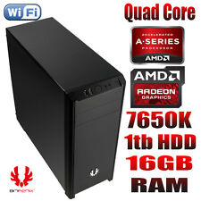 AMD QUAD CORE 16GB RAM 1TB HDD Desktop PC R7 GRAPHICS WINDOWS 10 PRO 64BIT