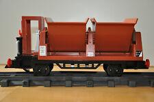 Niederbordwagen Playmobil und LGB Waggon-Aufbau braun