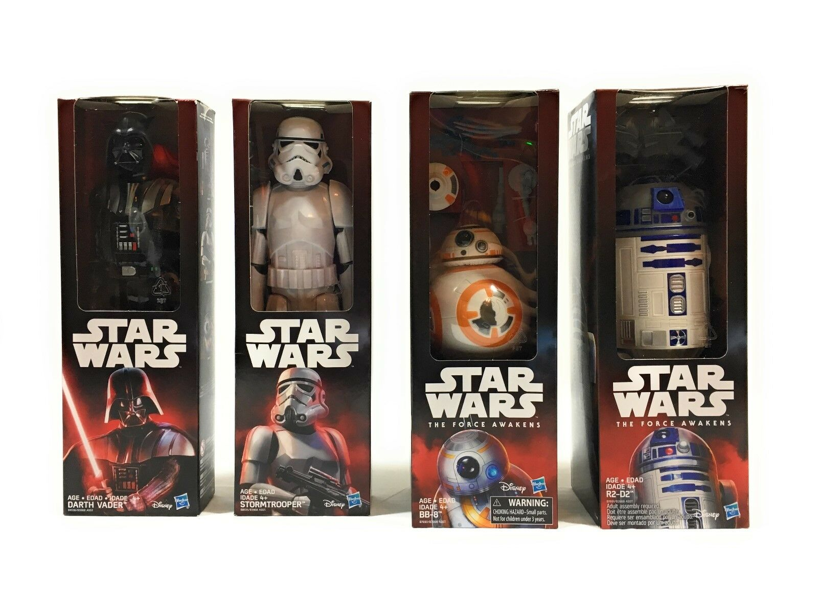 Star Wars The Force Awakens Figures Lot R2 D2, Darth Vader, BB8, Storm Trooper
