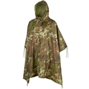 RIP-STOP WATERPROOF WINDPROOF PONCHO//BASHA army olive military hooded jacket