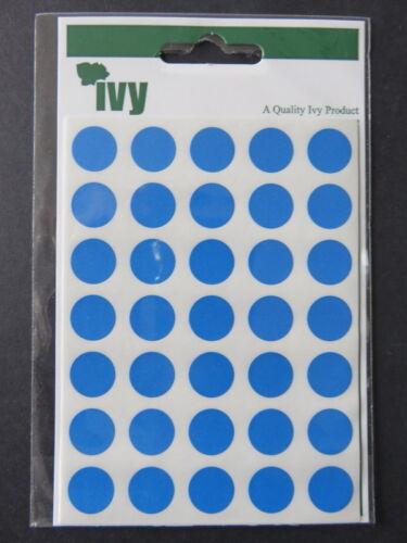 ROUND BLU appiccicoso Etichette x 140-13mm di diametro-SIGILLATO Pack 4 fogli di 35