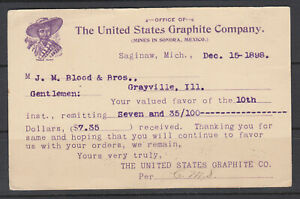 US-UX12-used-1898-Illustrated-Advertising-Card-US-Graphite-Co-Mexican-Man