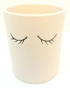 rae dunn eyelash tumbler cup makeup brush pencil holder