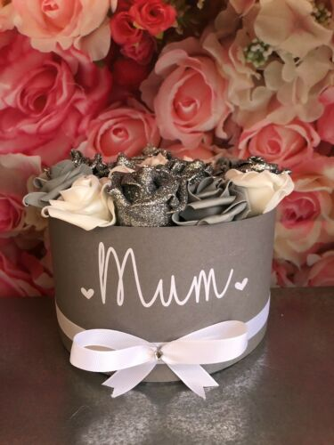 Personalised Artificial Rose Decoration Handmade Boxes Not Hat Boxes Gift Weddin