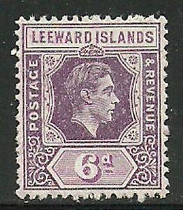 Album Treasures Leeward Islands Scott # 110 6p George VI Mint Hinged