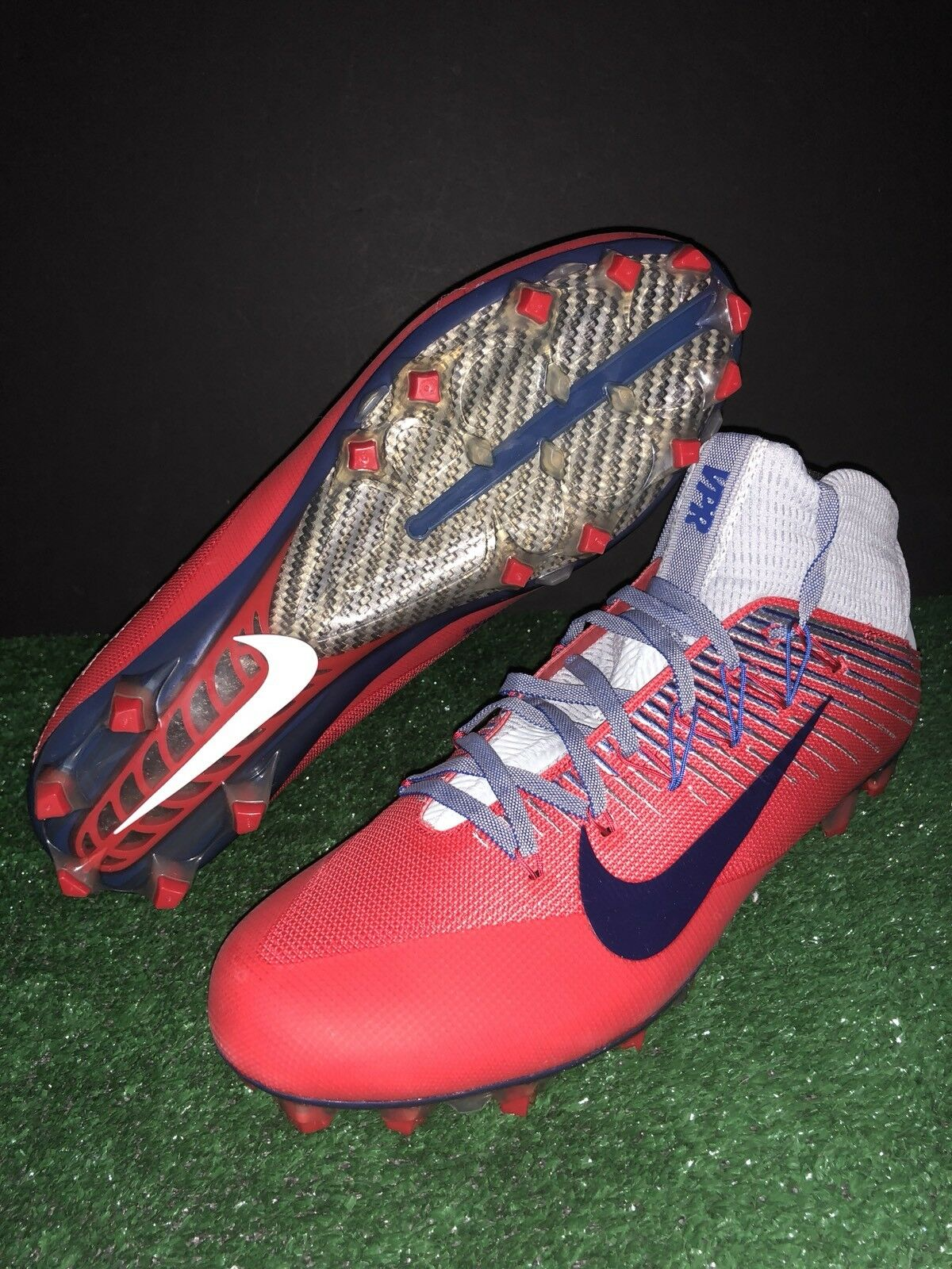 cba96b58121 NIKE UNTOUCHABLE 2 FOOTBALL CLEATS 835646-021 RED blueE GREY NY GIANTS MENS  13