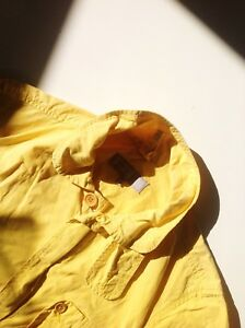 Drawstring Jacket M Collared Waist Way Margaret Two Cotton Zip Howell Yellow w6Az0U