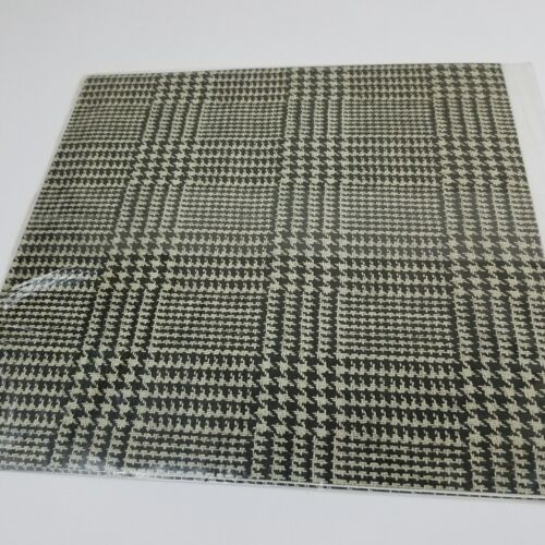 Vintage 90s Black White Houndstooth Hallmark Paper Gift Wrap Two Sheet USA Made