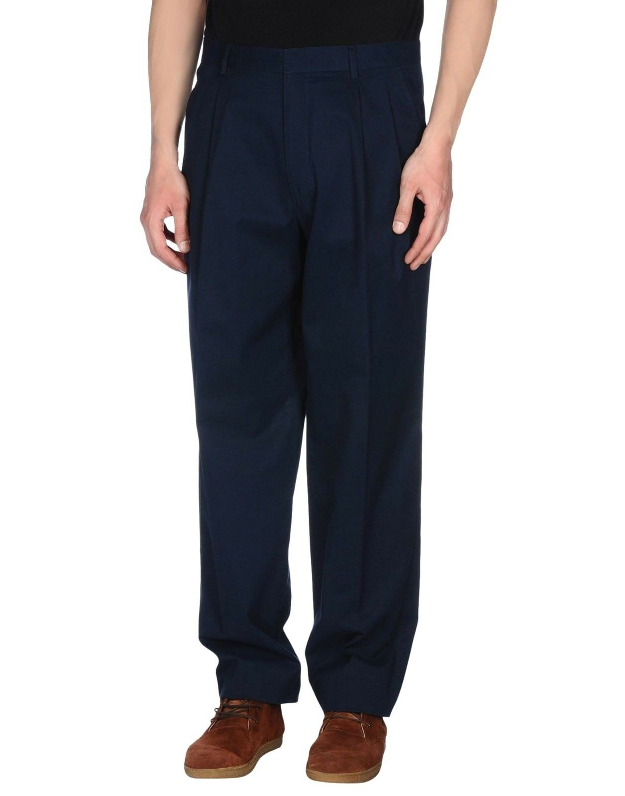 Iceberg Dark Navy bluee Casual Pants Trousers- W38 38L(Open Hem)