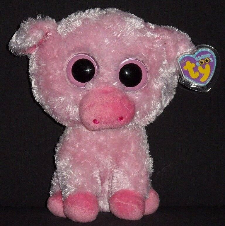 TY BEANIE BOOS BOO'S - CORKY the 9  PIG with TAGS - PLEASE READ