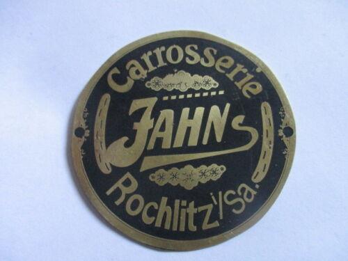 Typenschild Schild Plakette Carrosserie Jahns Rochlitz s22