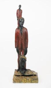 Roberto-Barni-scultura-in-bronzo-originale-Noi-serie-gambe-in-spalla-firmata-3-8