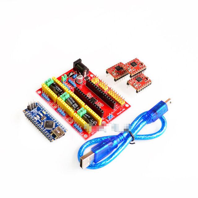3d Printer Kit for Arduino CNC Shield V4 Nano 3 0 A4988 Driver GRBL  Compatible
