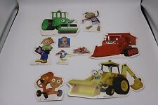 Bob the Builder Paper Cut Out Paper Figures Wendy Roley Muck Scoop Dizzy Spud