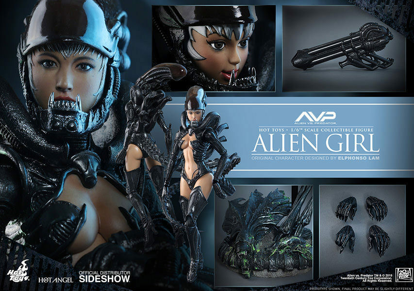 Hot Juguetes HAS002 Alien Vs Projoator AVP Alien Girl 1 6 figura femenina alienígenas