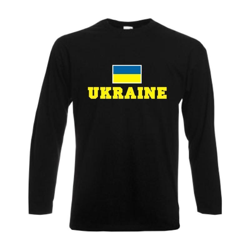 Longsleeve UKRAINE, Flagshirt, Fanshirt langarm T-Shirt S-6XL (WMS02-69b)    | Online-verkauf  | Lebhaft  | Preisreduktion