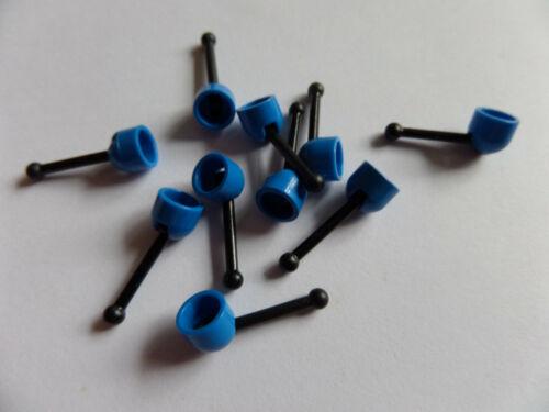 10x LEGO 4592 c02 POMMEAU LEVIER BLEU-NOIR 4593 d/'occasion 4296152