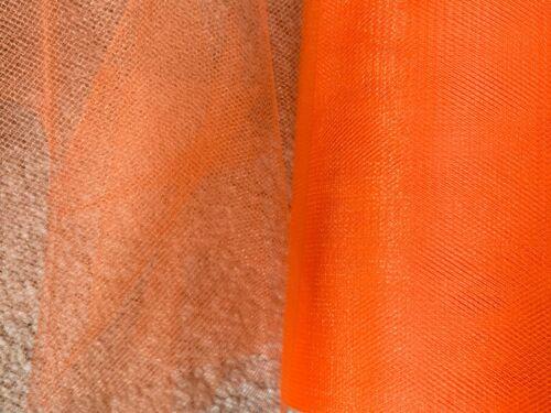 4m of 150mm Wide Soft Nylon Orange Shimmer Tulle Netting Fabric Wedding//Tutu