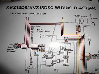 Yamaha OEM Factory Color Wiring Diagram Schematic 1986 XVZ13DS XVZ13DSC CB  Radio | eBayeBay