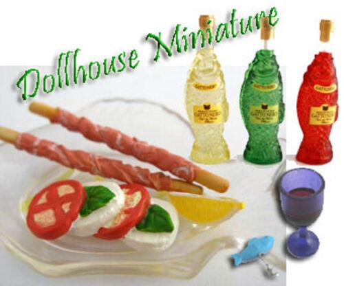 Dollhouse Miniature Italian Restaurant Wine /& Orderbs #6