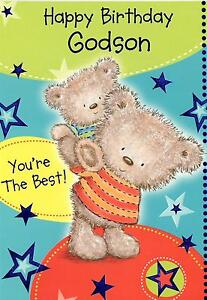 Image Is Loading Godson Birthday Card Happy You 039