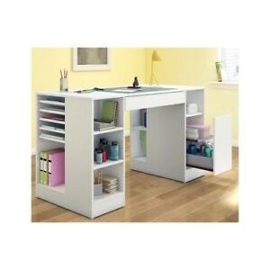 Furniture Craft Desk Art Table Station Storage Wood Drawing Office Student White 66311052923 Ebay
