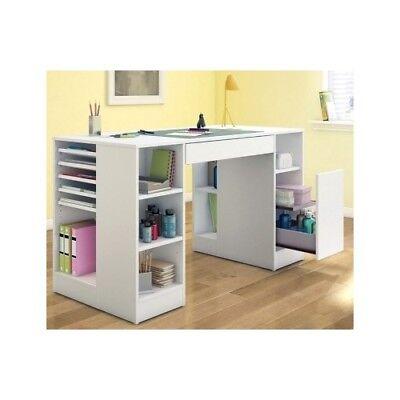 Furniture Craft Desk Art Table Station Storage Wood Drawing Office