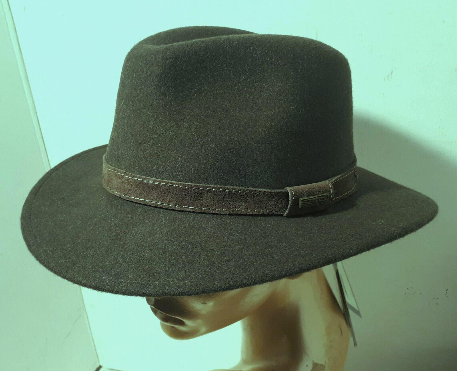 100% Wool Fir Green knautschbarer Wool Felt Hat Loden Green