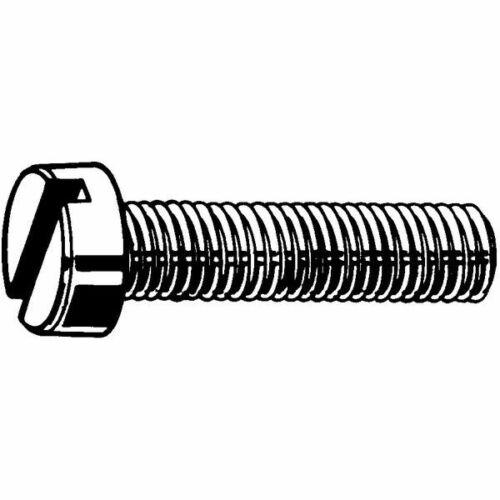Zylinderschrauben M3 x 8 Messing Nickel beschichtet DIN 84 Schlitz 200 Stk
