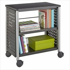 Safco Scoot Personal Bookcase Wrought Iron Metal Bookcases in Black