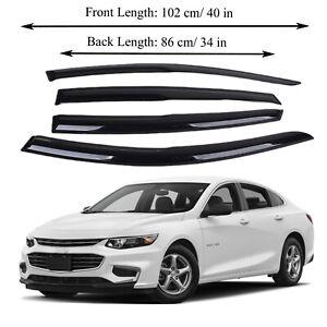 Fits for Chevrolet Malibu 17-19 Acrylic Window Visor Sun Rain Deflector Guard