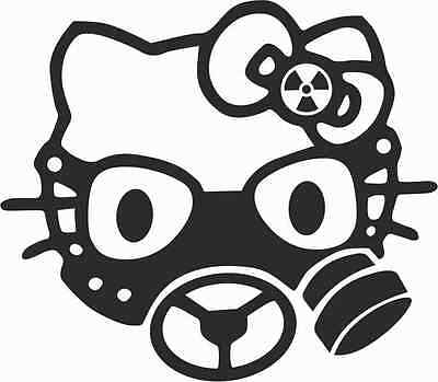 Hello Kitty Gas  Vinyl Die Cut Decal window Car Laptop Sticker Pet Cat Bumper