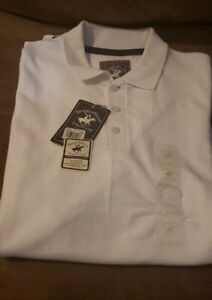 Vintage 90/'s Beverly Hills Polo Club White Polo Shirt Size XXL