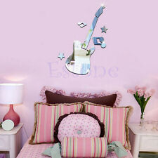 Hot Mirror Removable Guitar Music Symbols Decal Art Mural Wall DIY Sticker Decor