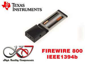 Karte-EXPRESSCARD-34mm-FireWire-800-IEEE1394b-Chipsatz-TI-TEXAS-Instrumente