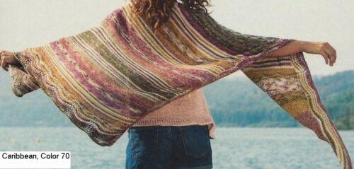100g CARIBBEAN COTTON 100/% Baumwolle Strickgarn Farbverlauf SommerWolle Batik